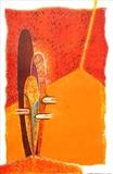 """Chaleur Humaine V"" by Rodney Salter, Artist Print, Lithograph on hand made paper"