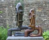 """Evocation"" I & II by Salter, Sculpture, Bronze"