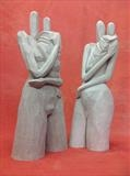 The Familly by Salter, Sculpture, Stoneware